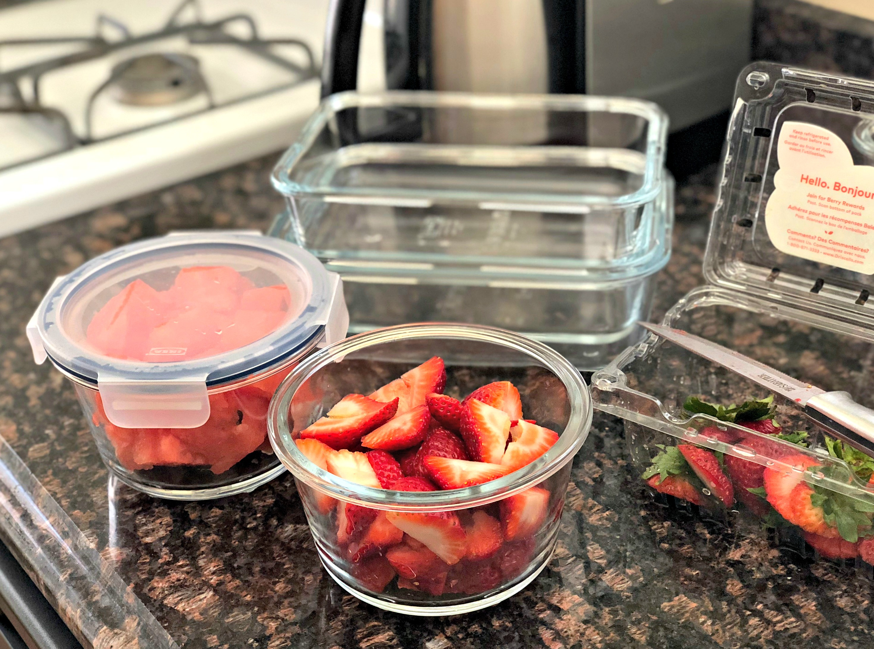 IKEA glass food containers