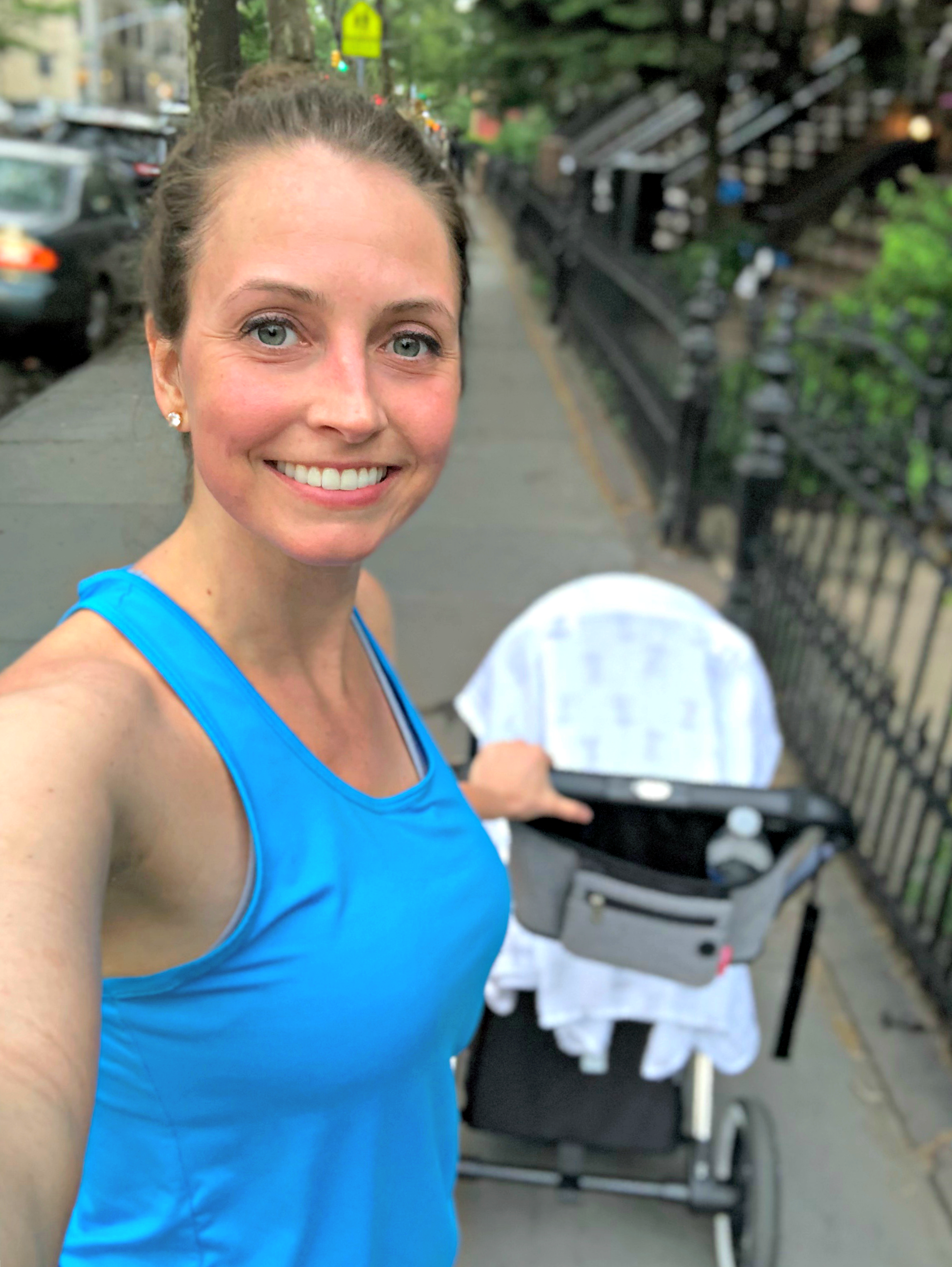 postpartum workouts walking home with baby