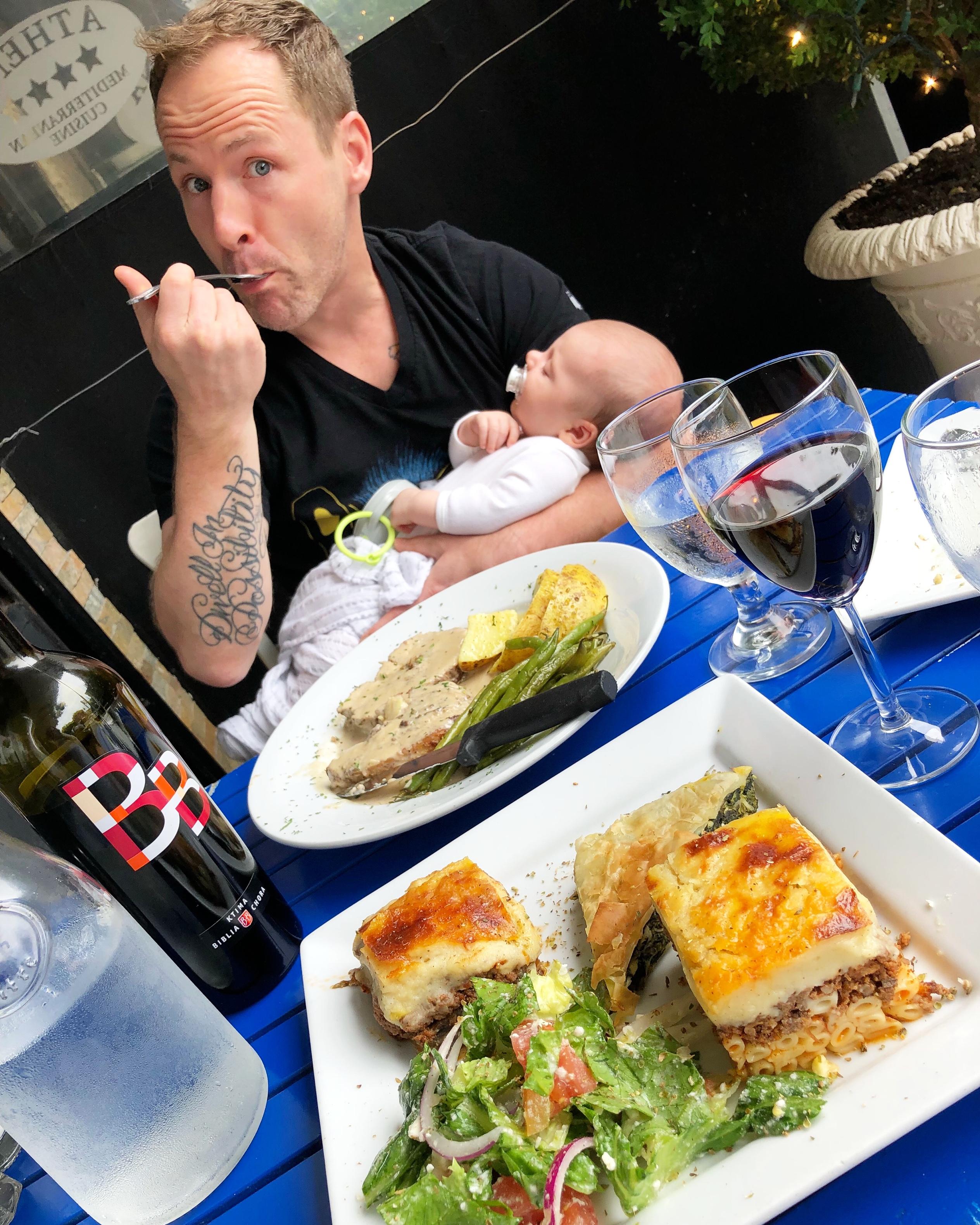 scott eating with skyler