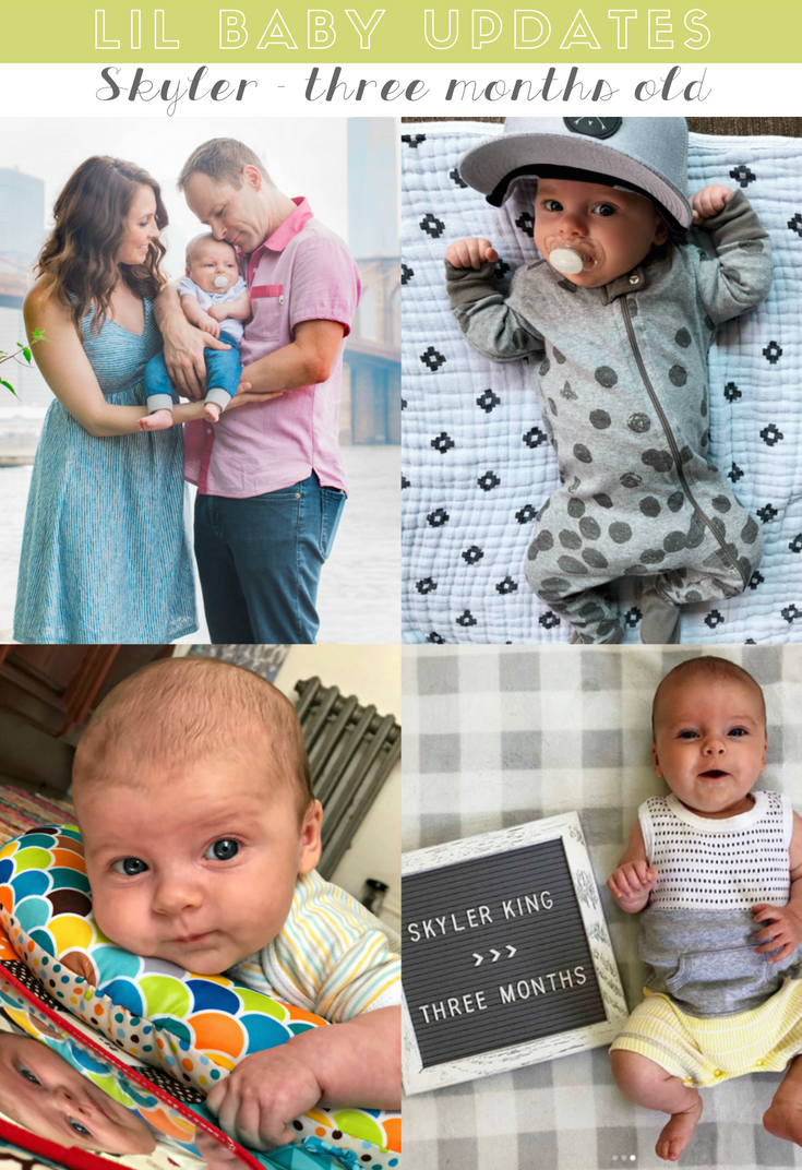 skyler's three month old update - life in leggings