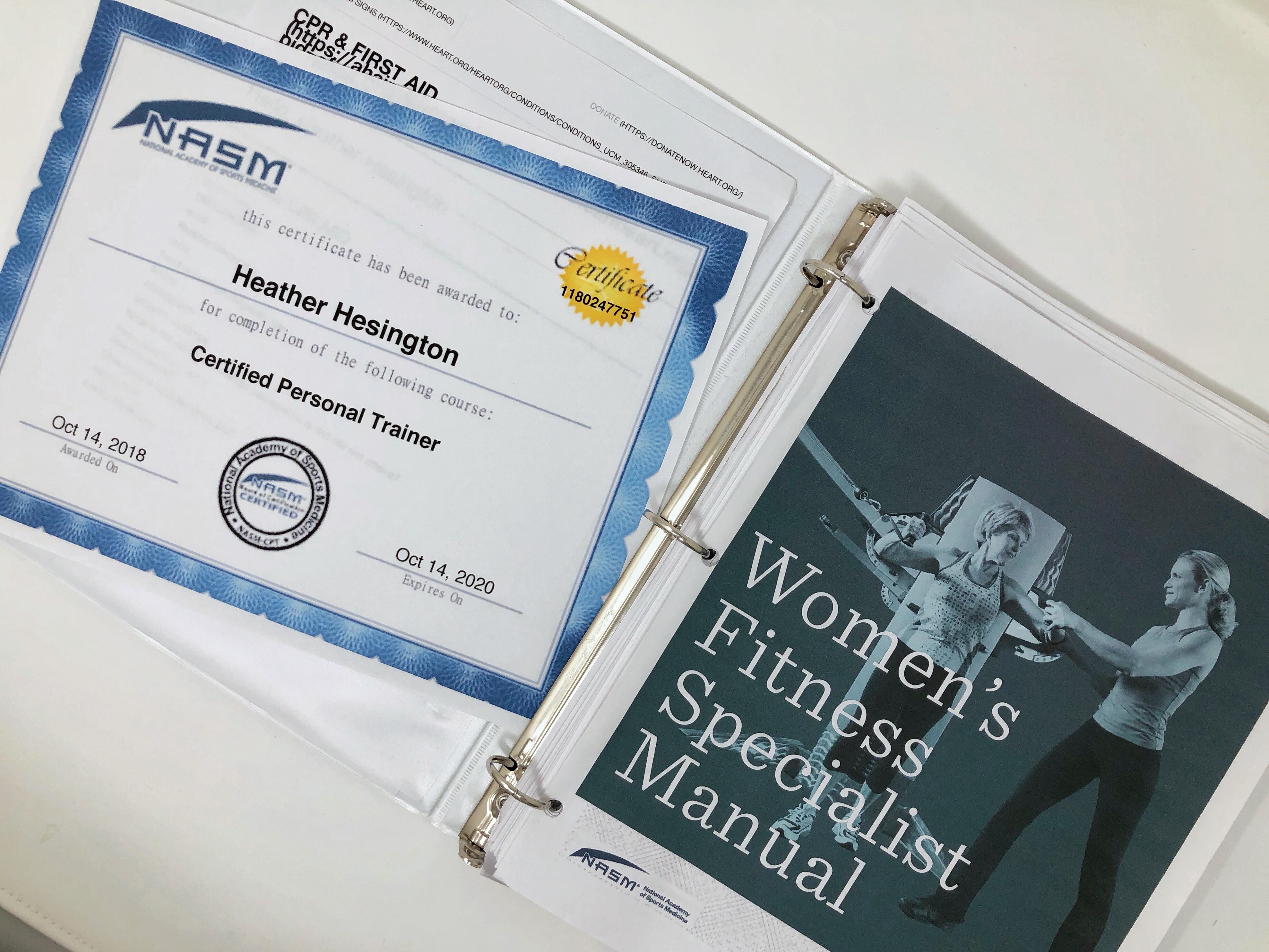 NASM WFS - womens fitness specialist