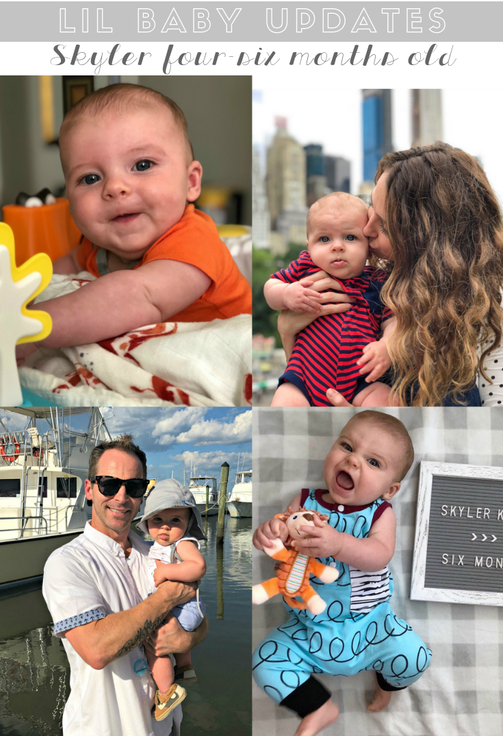 skyler's four-six months old update - life in leggings