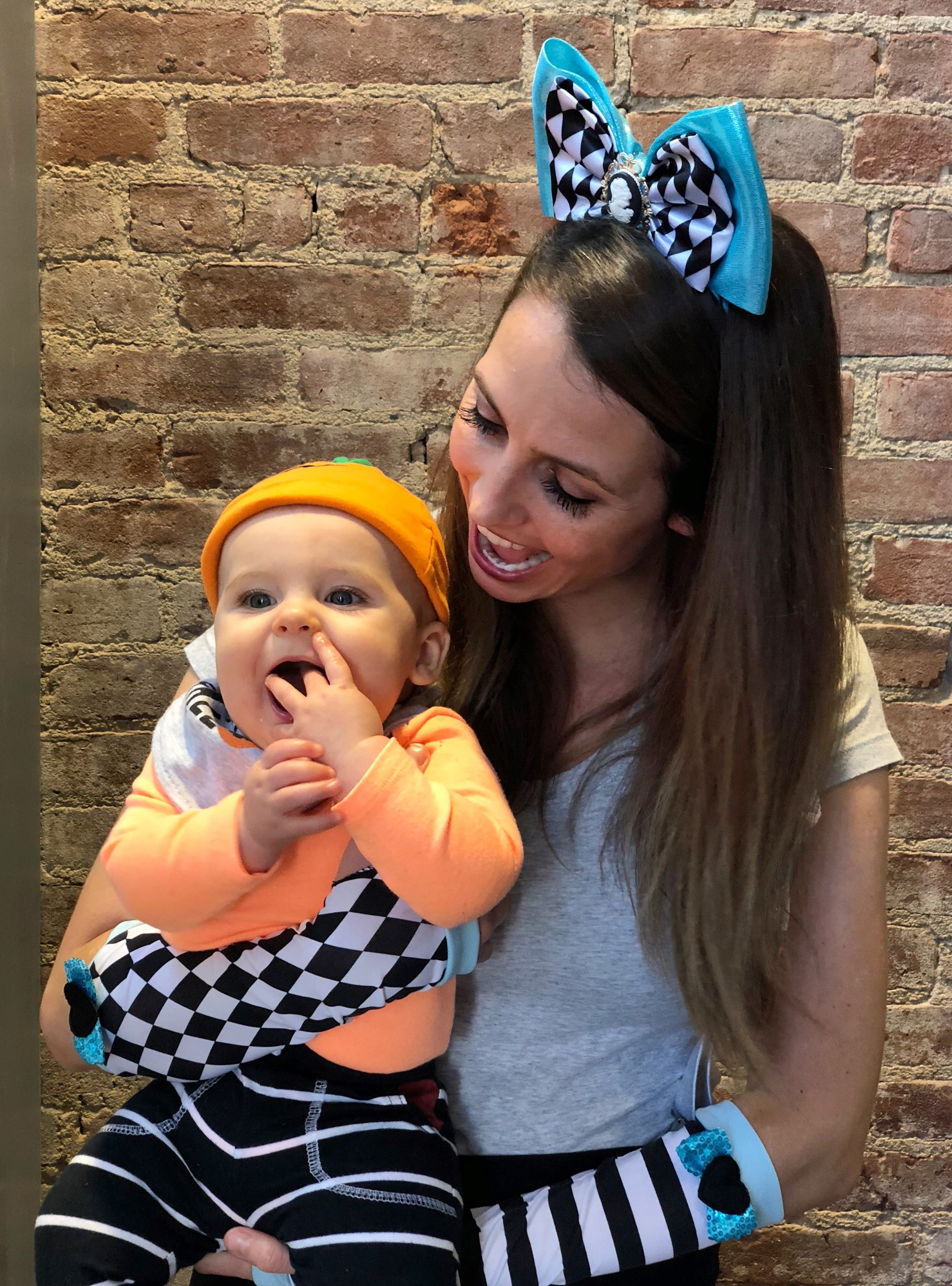 Skyler's first Halloween with me at work