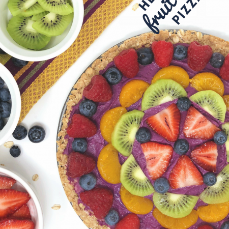 Healthy Fruit Hummus Pizza - Life In Leggings - Lantana Foods