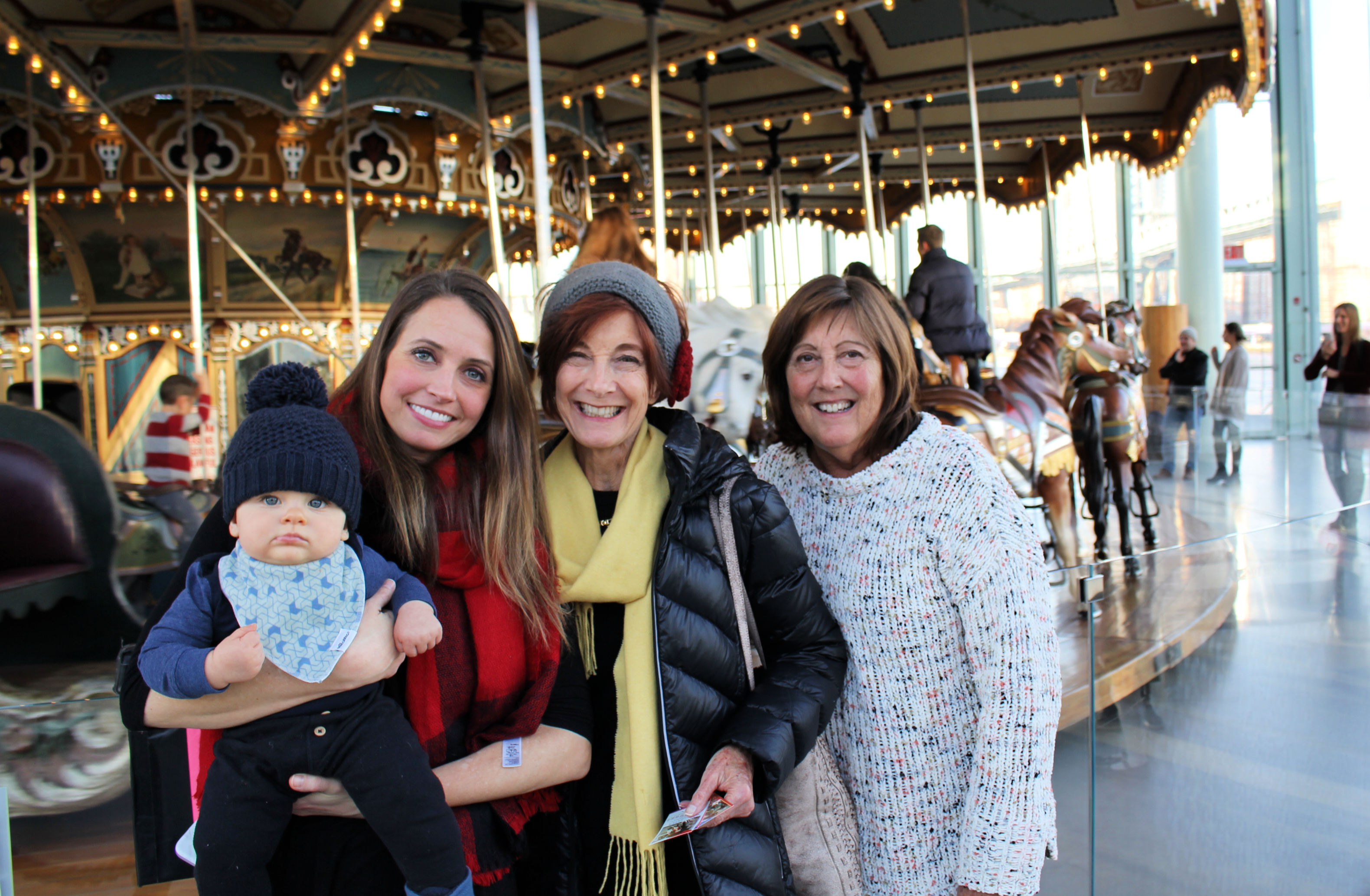 family in nyc janes carousel