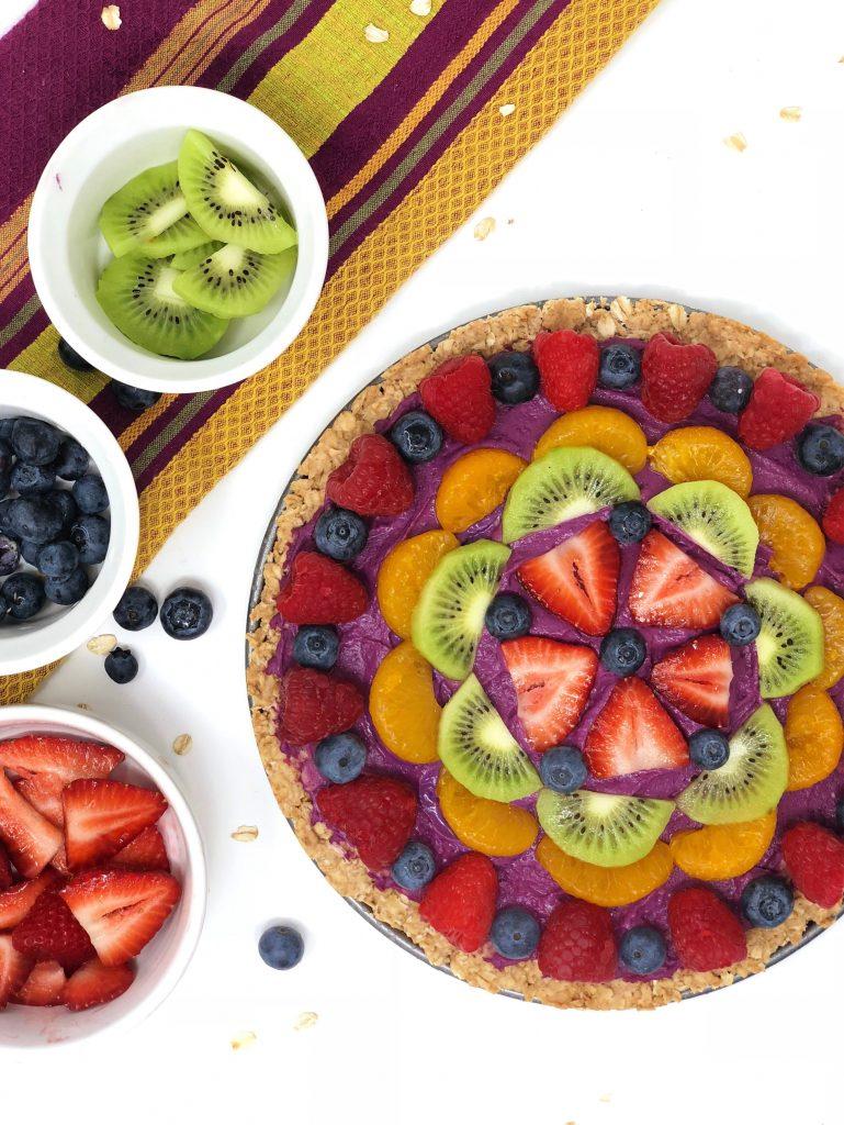 fruit hummus pizza recipe