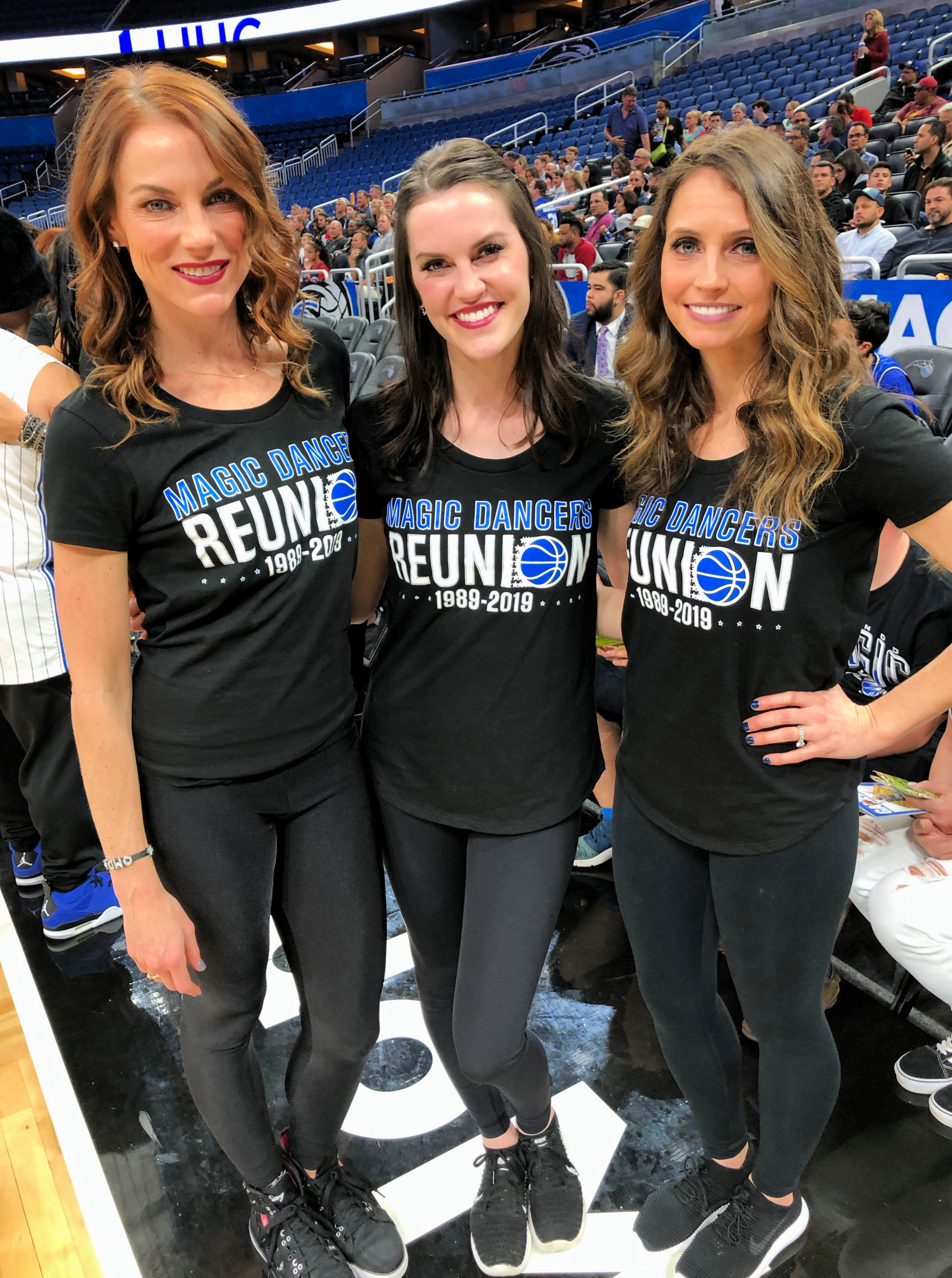 orlando magic dancer reunion on court