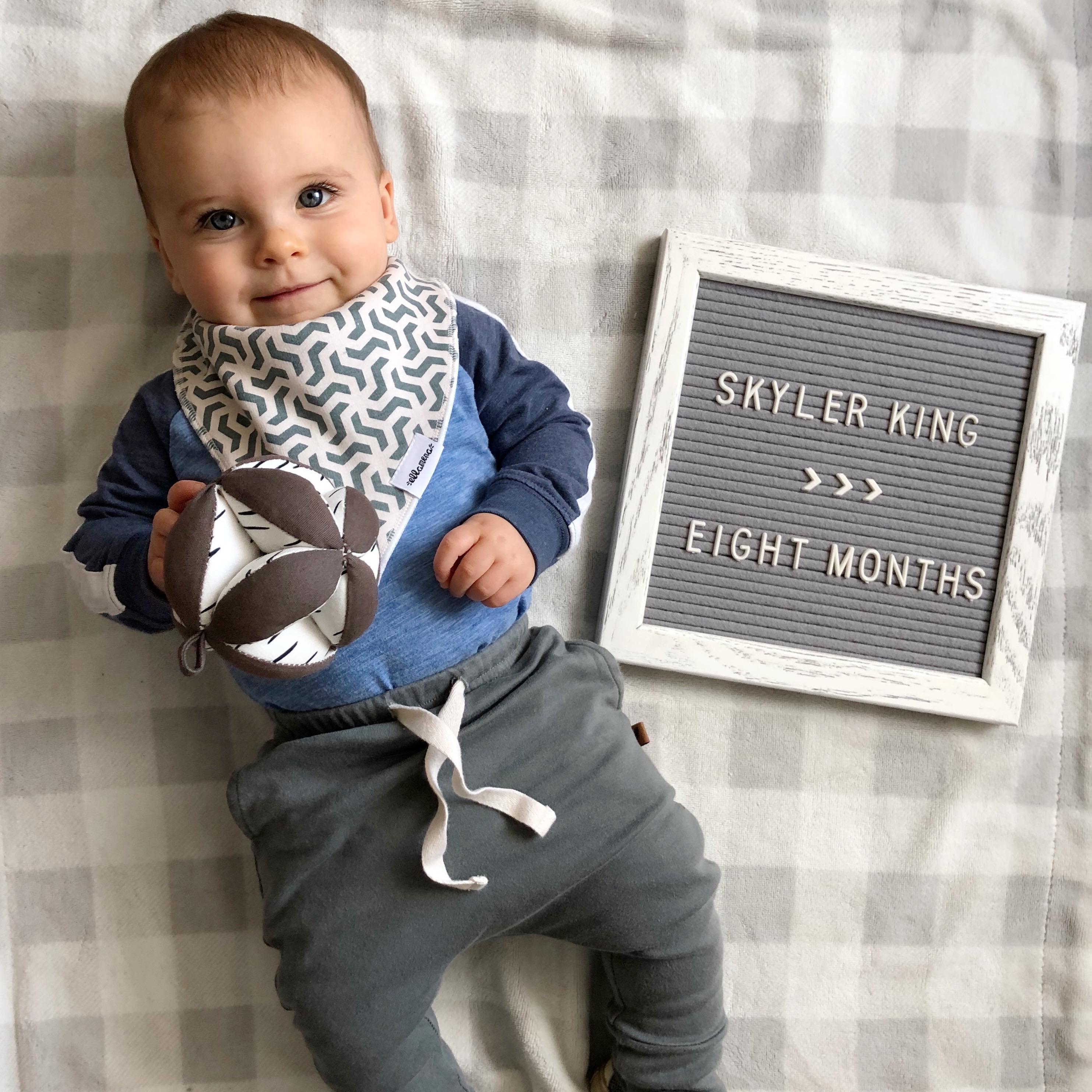skyler 8 months update 3