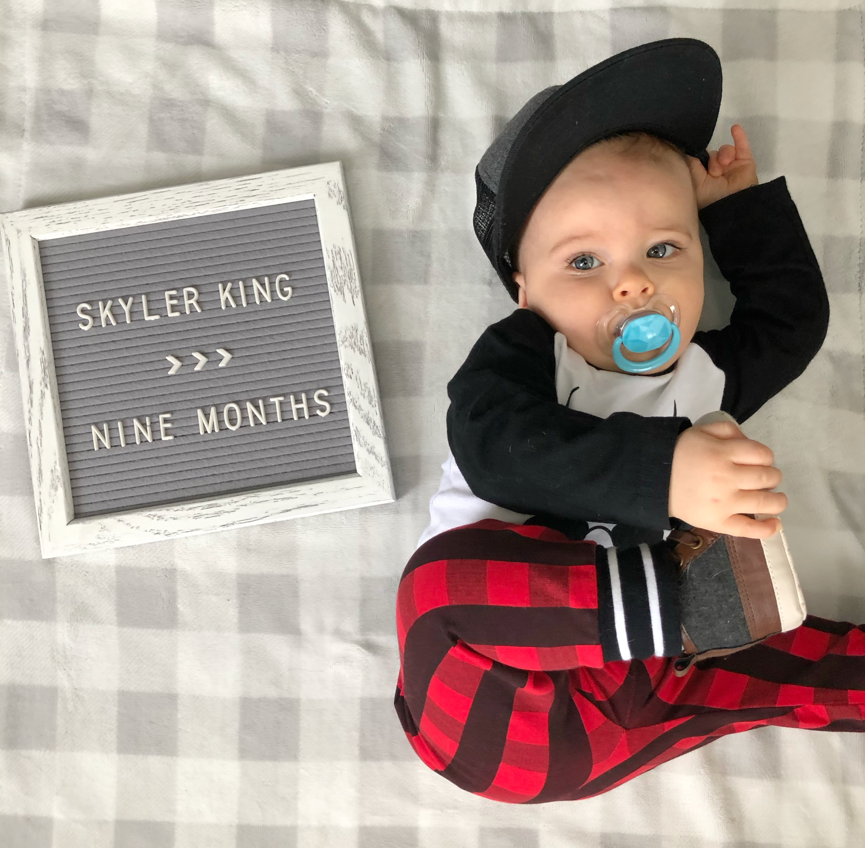 skyler 9 months update 2