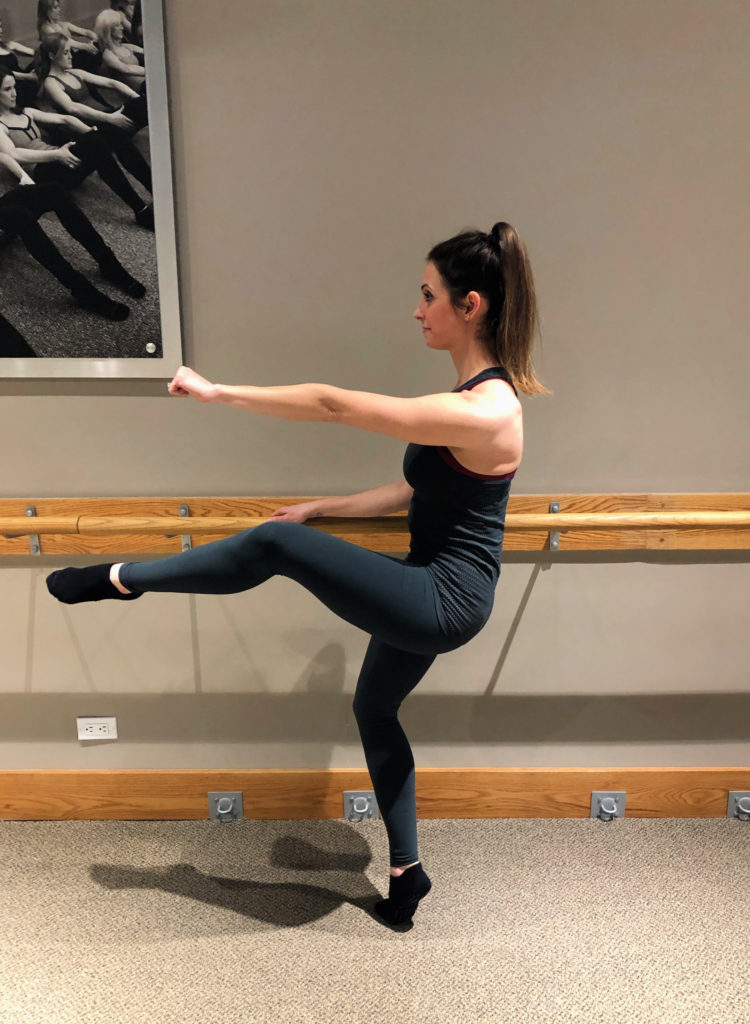 pure barre thigh exercise
