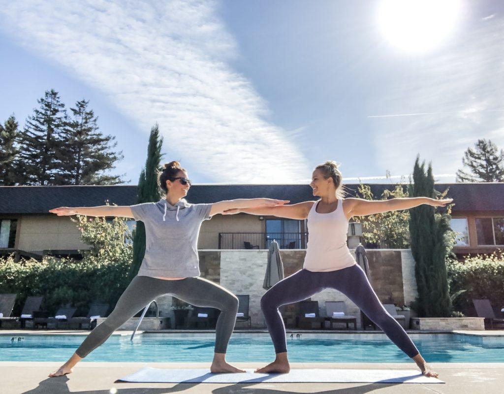 yoga poolside napa valley