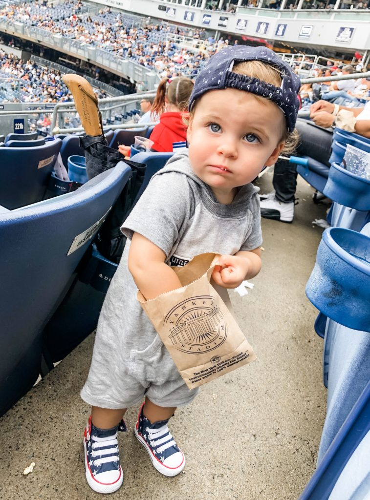 skyler at yankees game