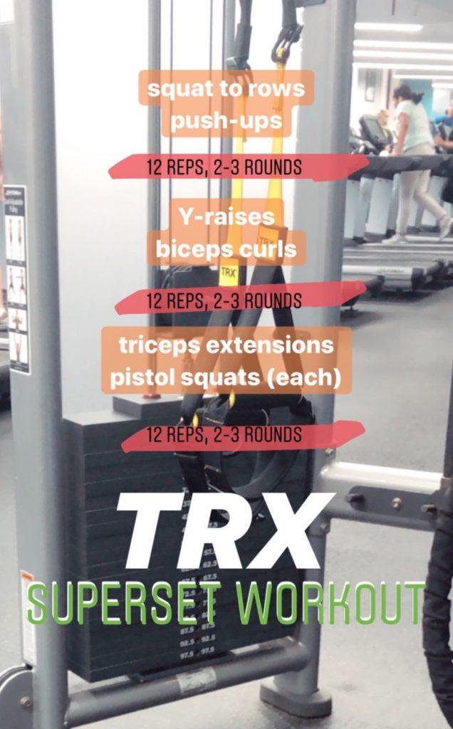 TRX superset workout