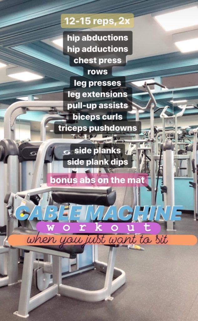 cable machine workout