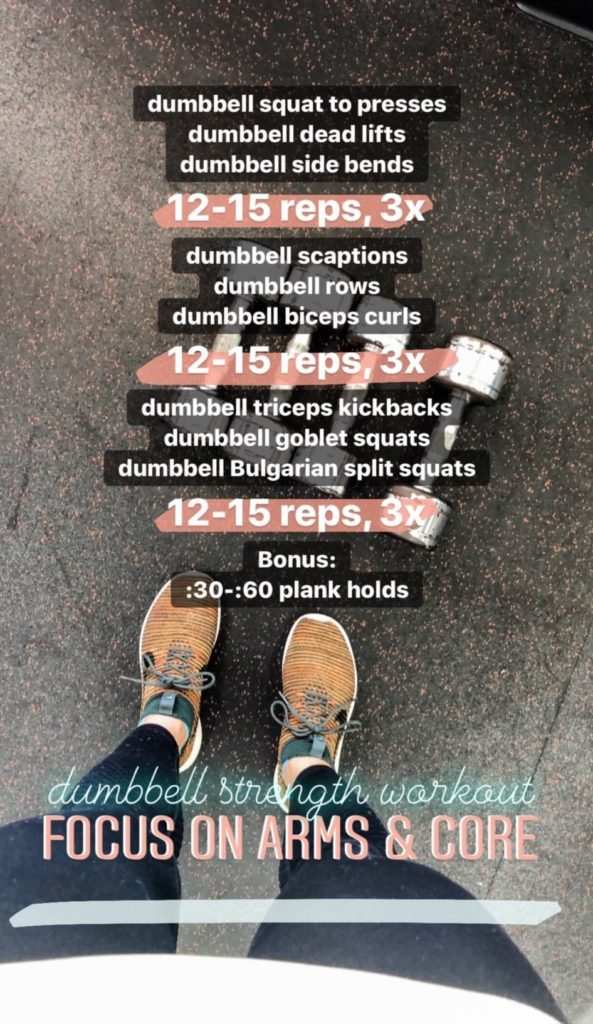 focus on arms and core strength workout