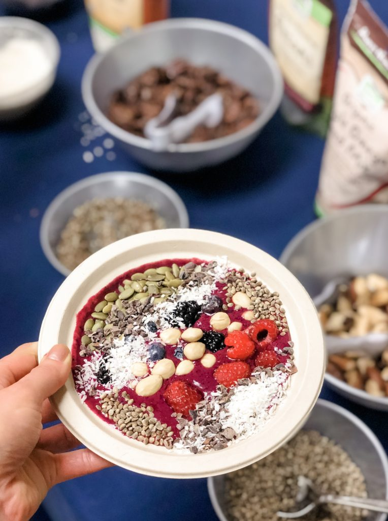 now foods healthy toppings smoothie bowl