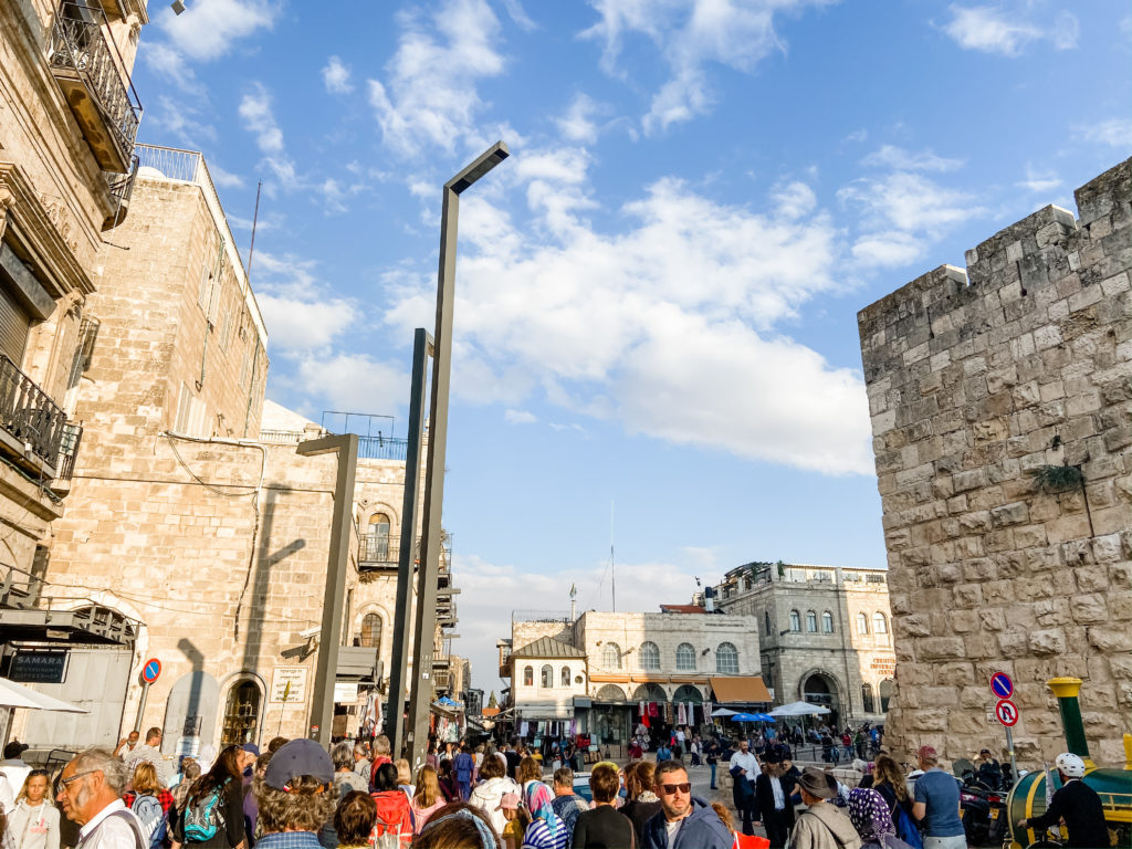inside Jaffa Gate - Old City Jerusalem