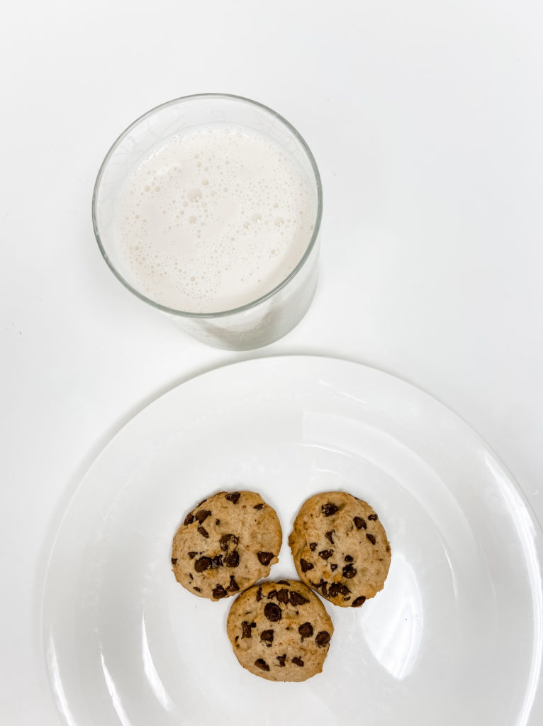 cookies and almond milk