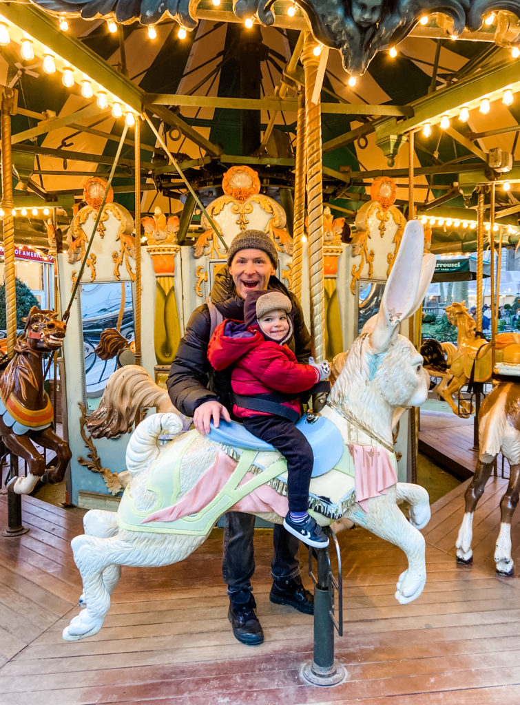 Bryan Park Carousel - Scott and Skyler