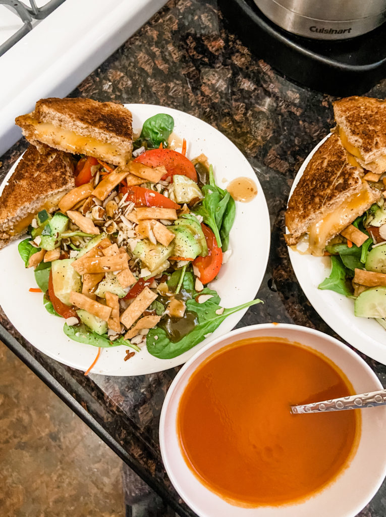 grilled cheese and soup family meal