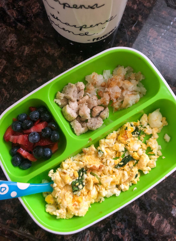 toddler breakfast plate