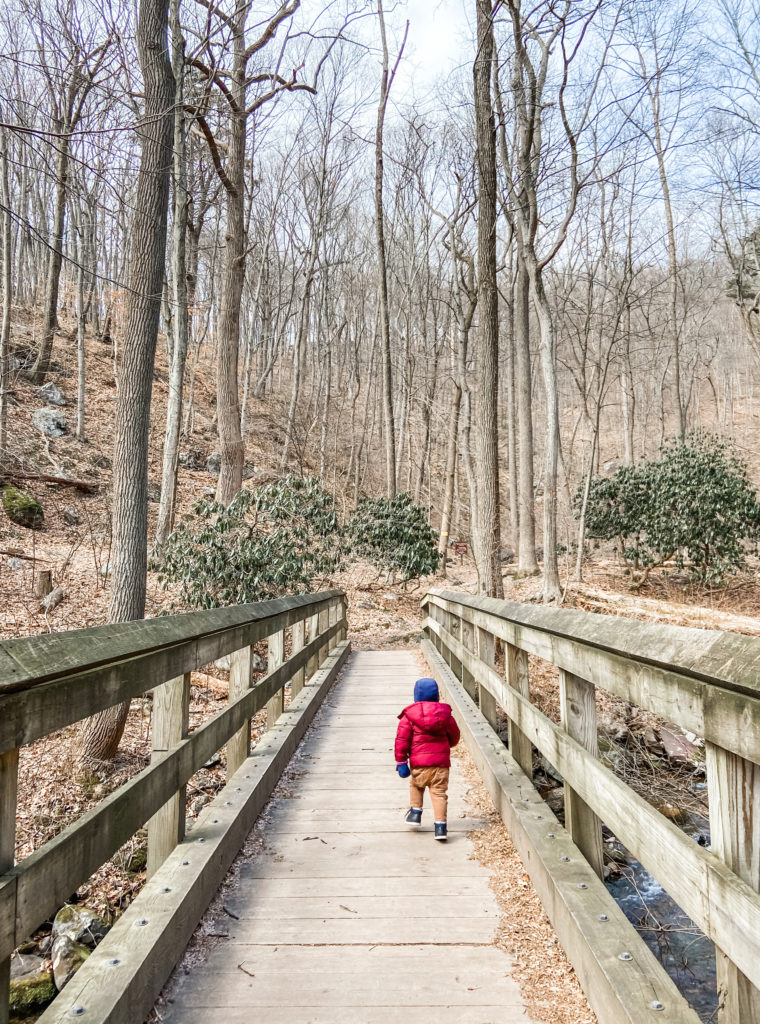 hiking in The Poconos