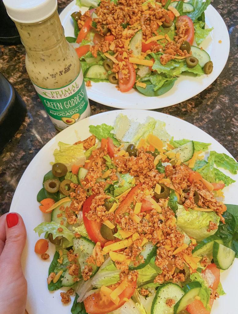 refrigerator leftovers - taco salad