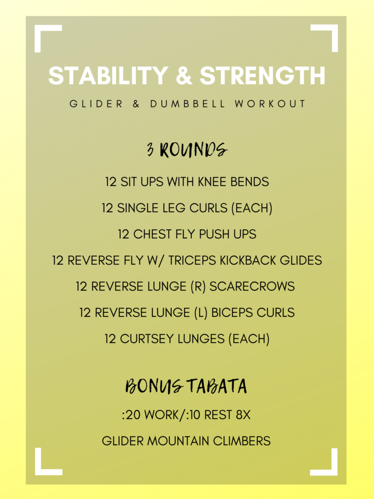 Stability & Strength Workout With Gliders and Dumbbells