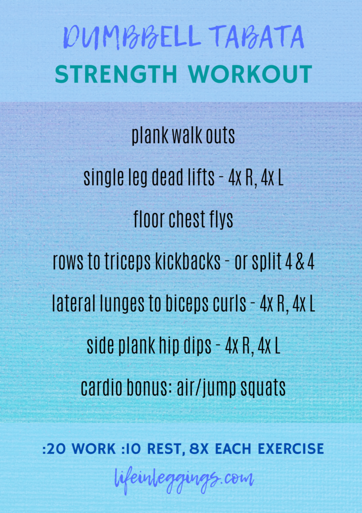 at-home dumbbell tabata strength workout