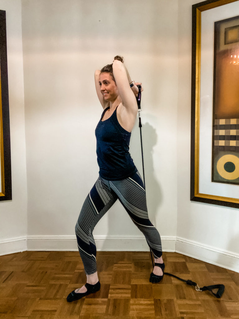 resistance band triceps extension start