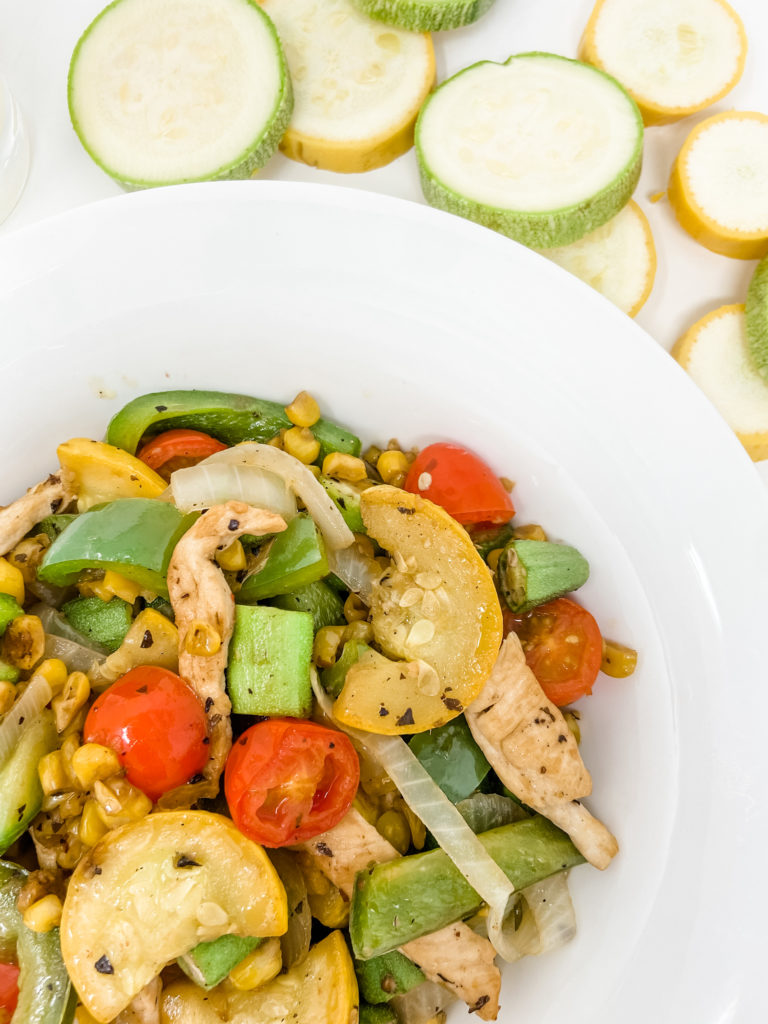 vegetable succotash with chicken