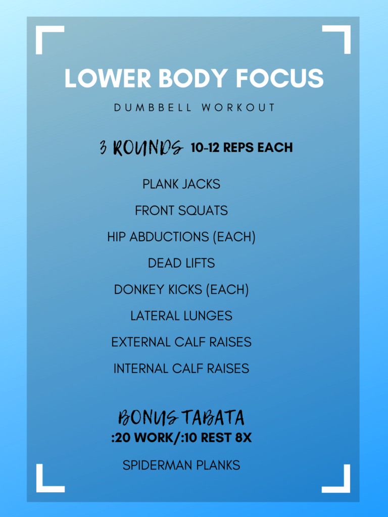 Lower Body Focus Dumbbell Workout