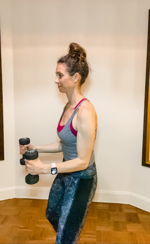 bent arm lateral raises exercise