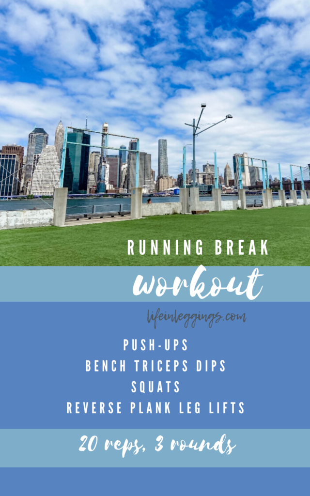 running break bodyweight workout