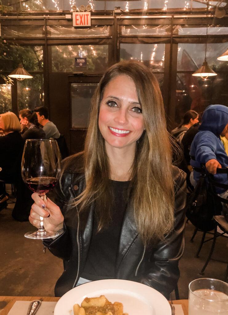 heather with wine