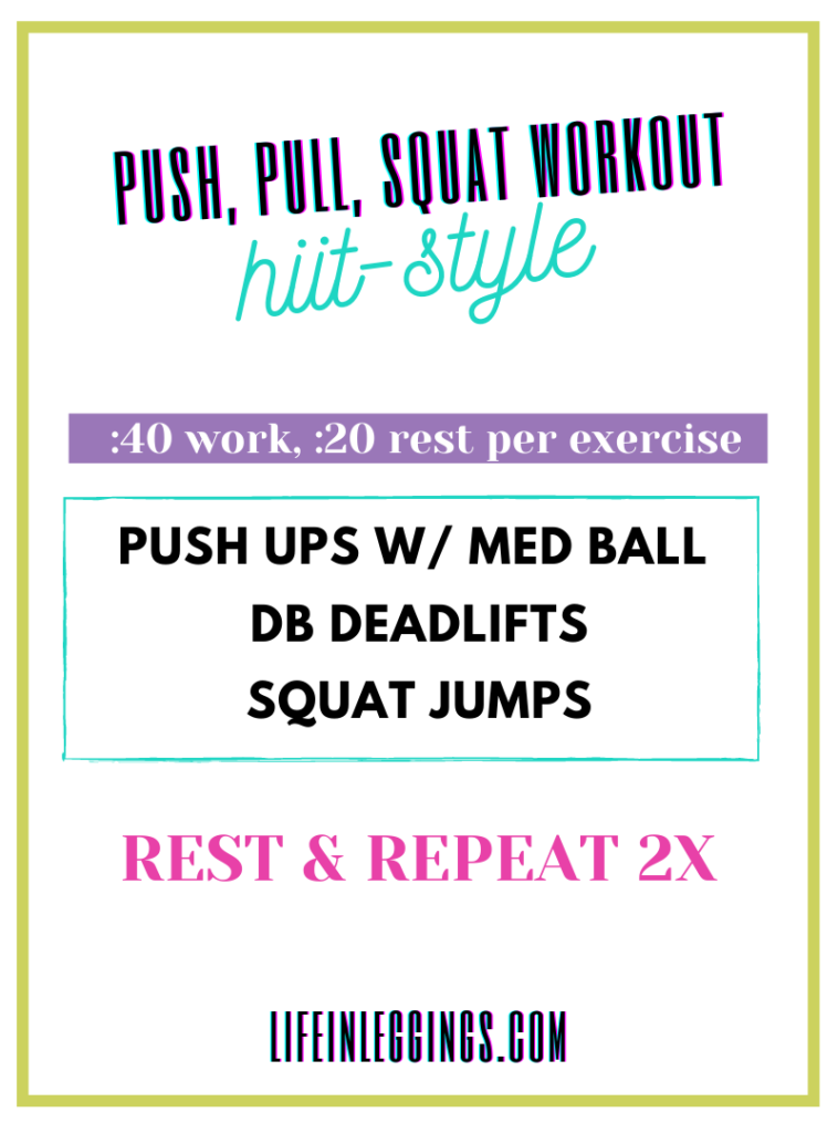 Push, Pull, Squat Workout HIIT