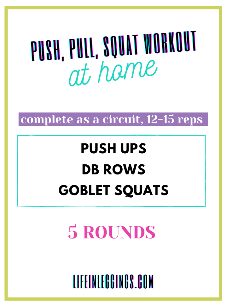 Push, Pull, Squat Workout at home