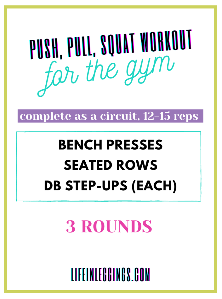 Push, Pull, Squat Workout for the gym