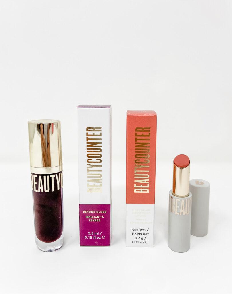 beautycounter beyond gloss and sheer genius lipstick