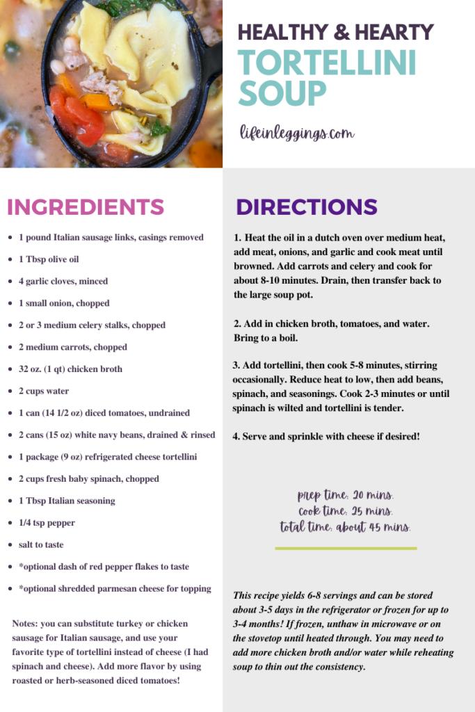 Hearty & Healthy Tortellini Soup