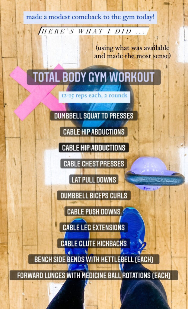 Total Body Gym Workout