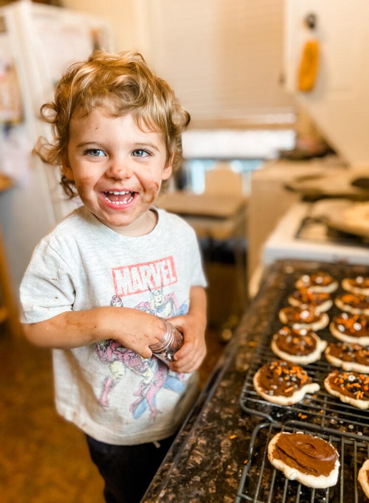 skyler baking cooking two years old