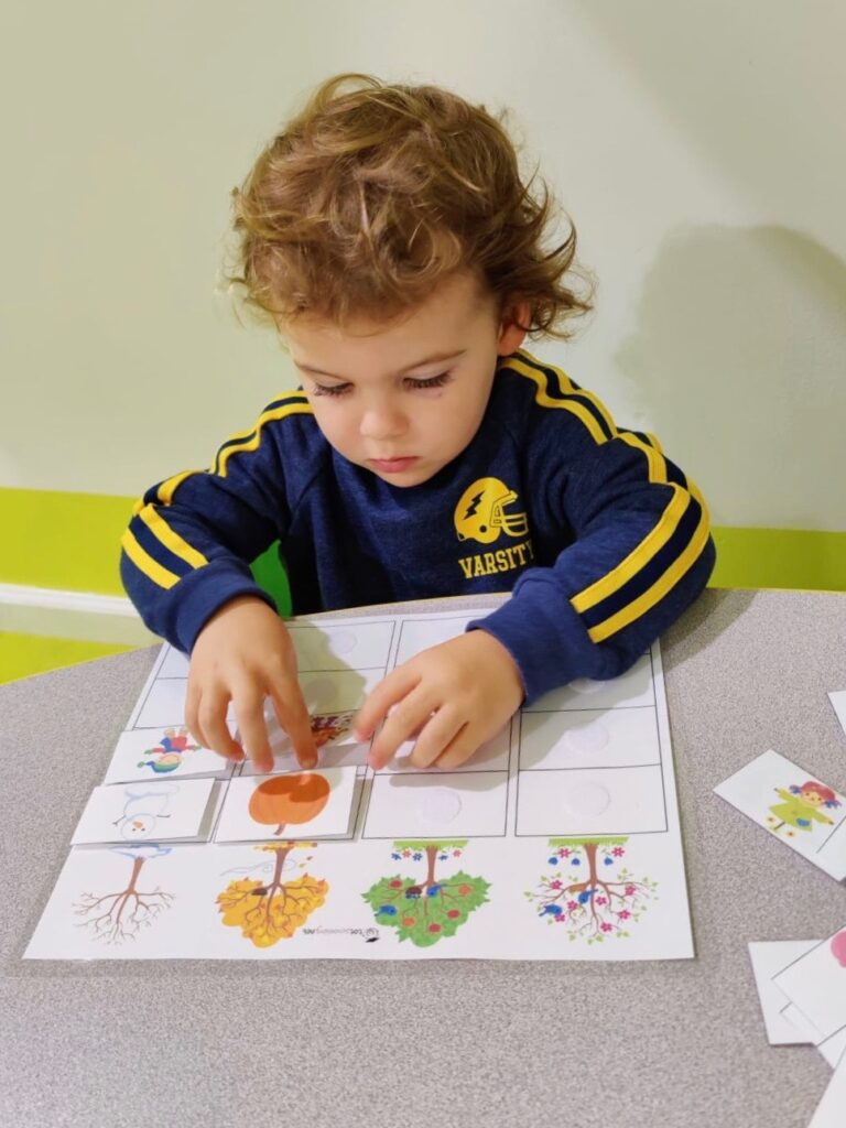 skyler first week at preschool