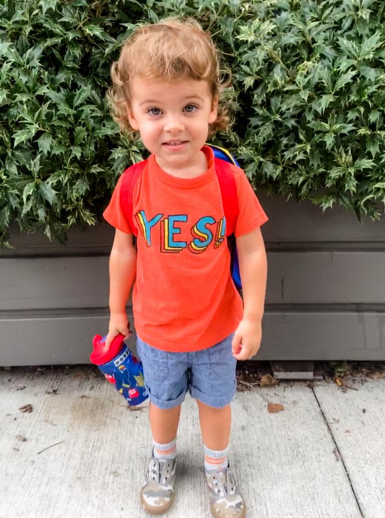 skyler's first day of preschool
