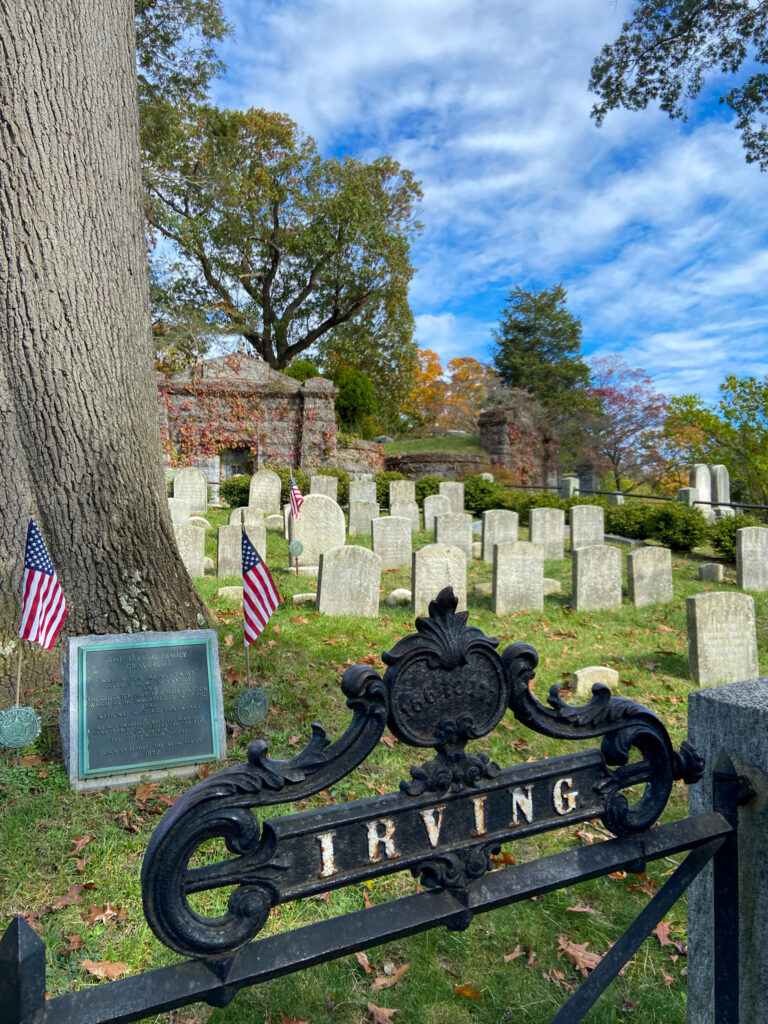sleepy hollow irving headstone