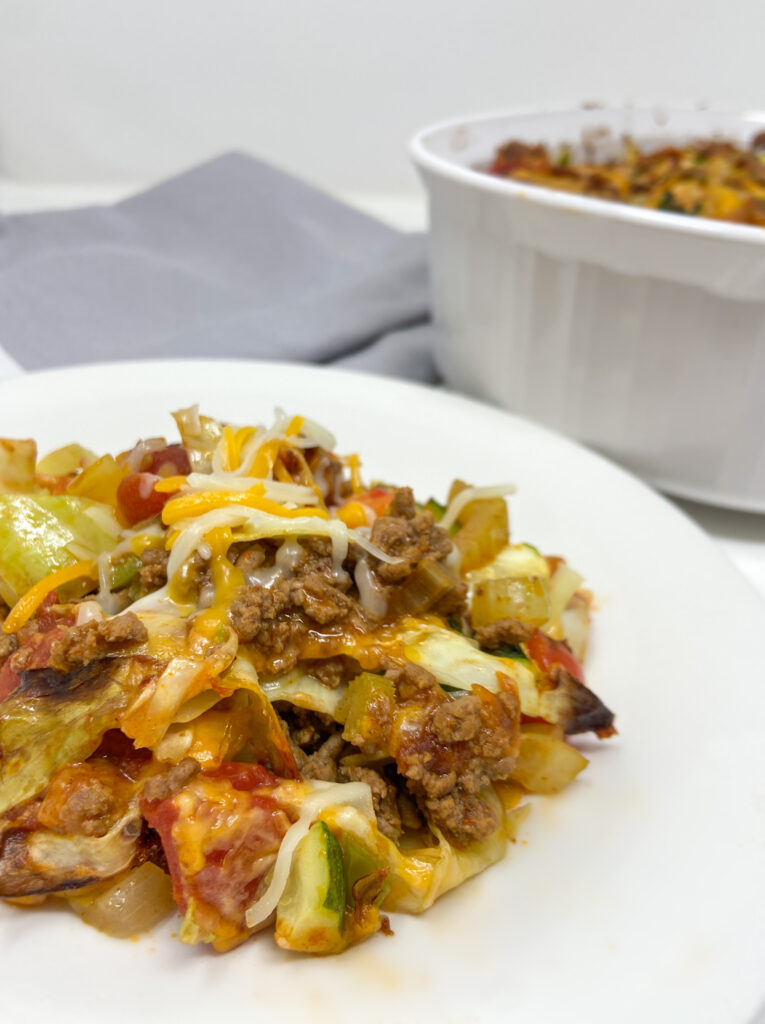 Cabbage Casserole Cheese Beef and Vegetables