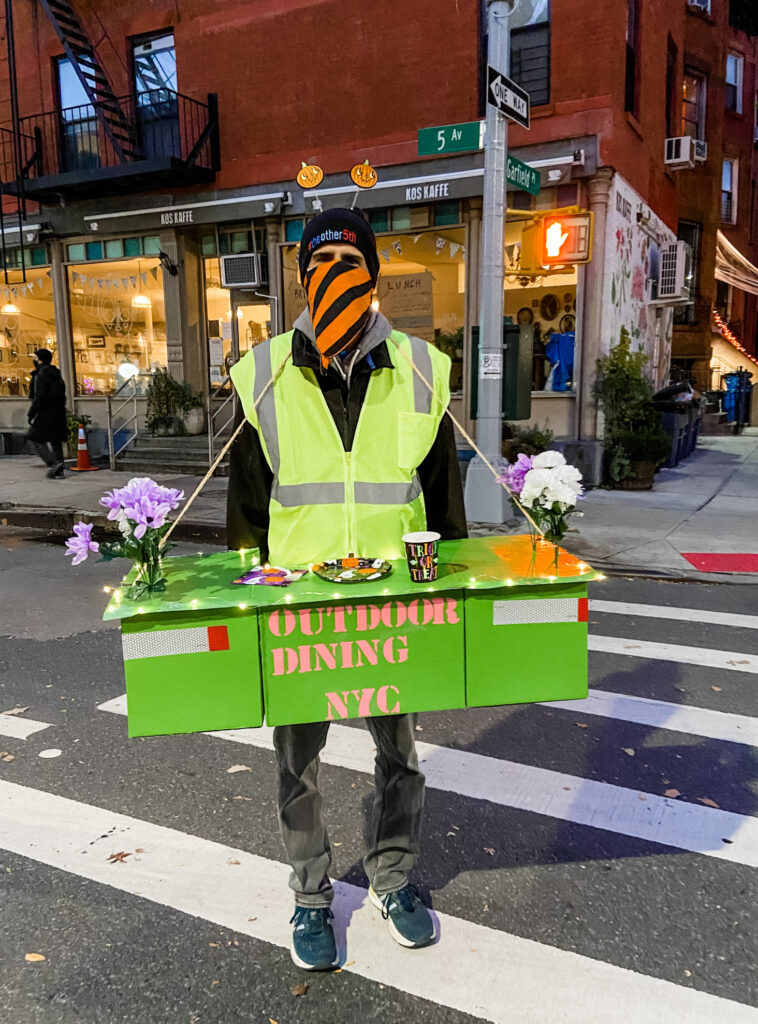 NYC outdoor dining costume