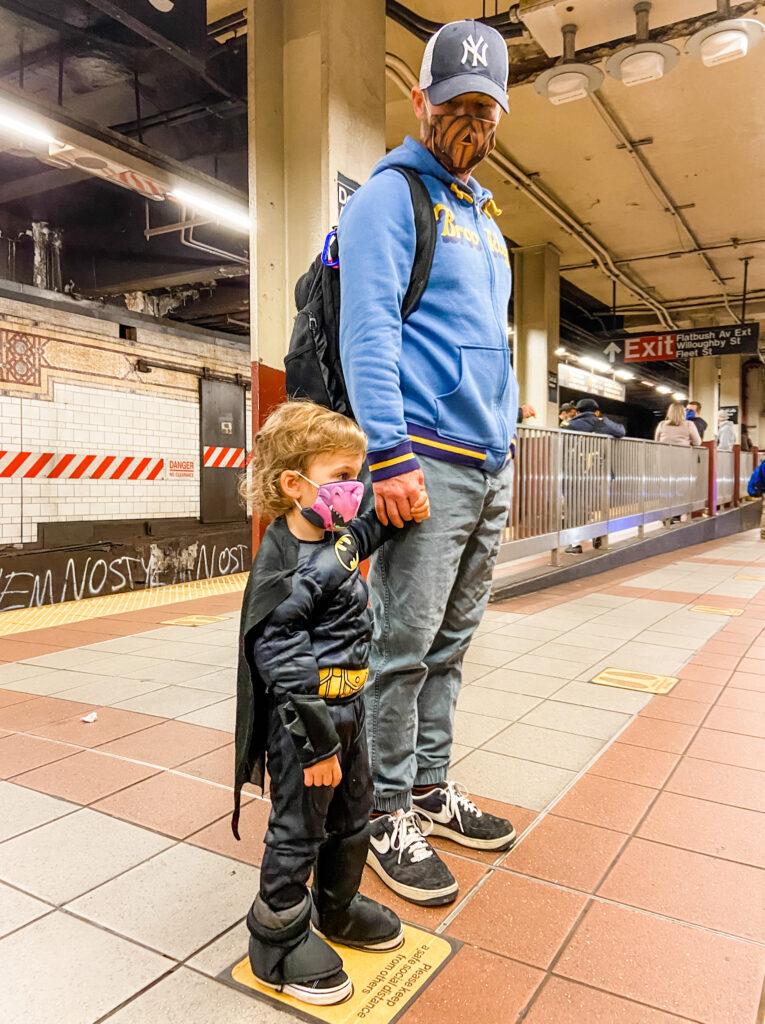 nyc subway on halloween