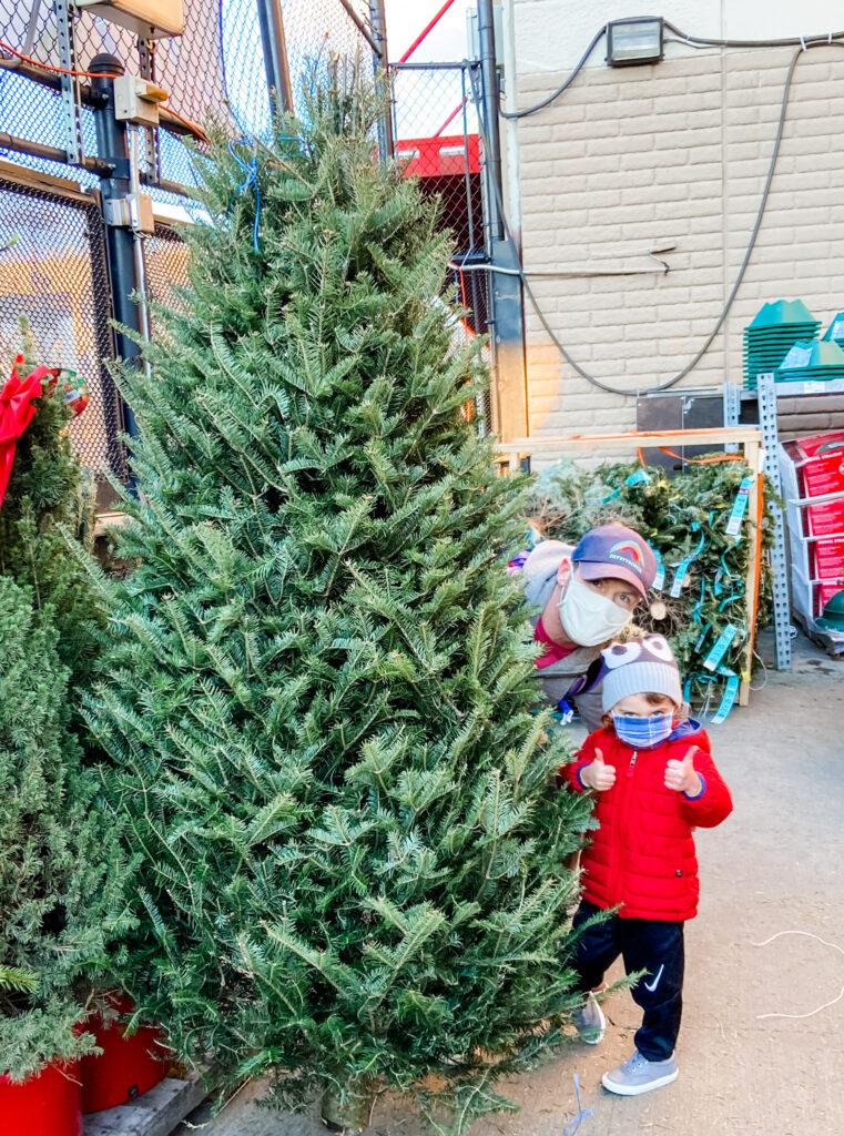 Scott and Skyler christmas tree 2020