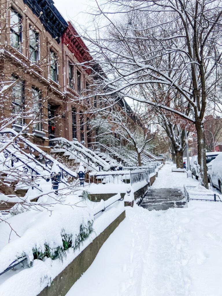 Snow Blizzard Park Slope, Brooklyn